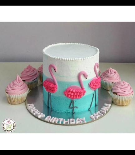Flamingo Themed Cake 02