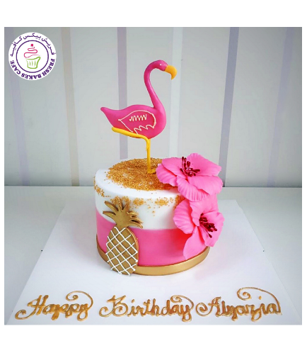 Flamingo Themed Cake 24