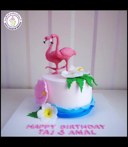 Flamingo Themed Cake 25