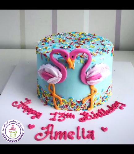 Flamingo Themed Cake 26