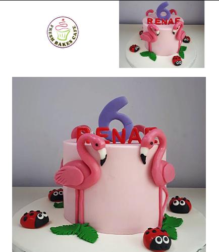 Flamingo Themed Cake 09