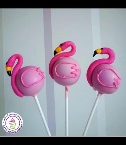 Flamingo Themed Cake Pops