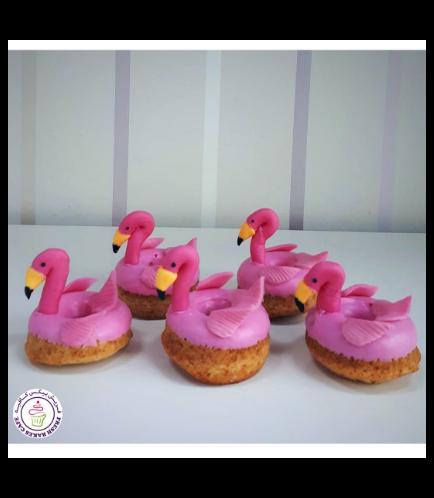 Flamingo Themed Donuts