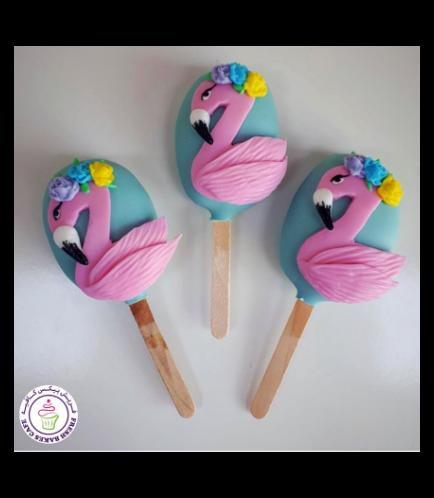 Flamingo Themed Popsicakes