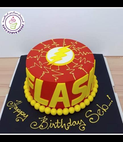Flash Themed Cake 03b