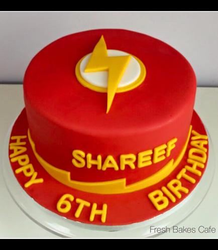 Flash Themed Cake 01