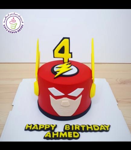 Flash Themed Cake - 2D cake