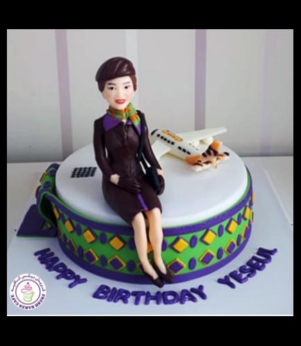 Flight Attendant Themed Cake 3