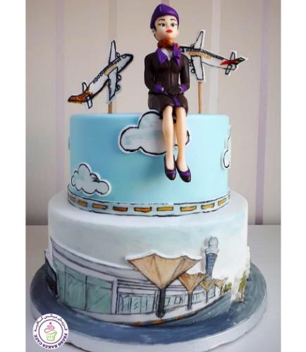 Flight Attendant Themed Cake 4b
