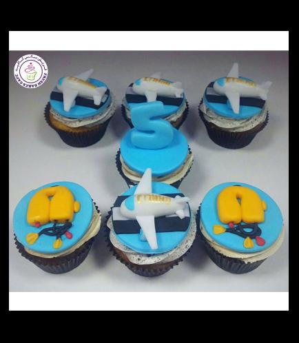 Flight Attendant Themed Cupcakes