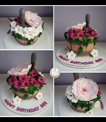Flower Pot Themed Cake - 3D Cake 03
