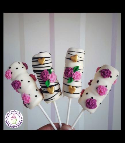 Marshmallow Pops - Roses
