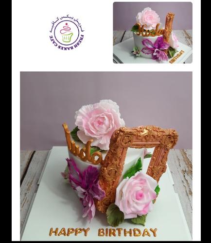 Cake - Flowers & Frame