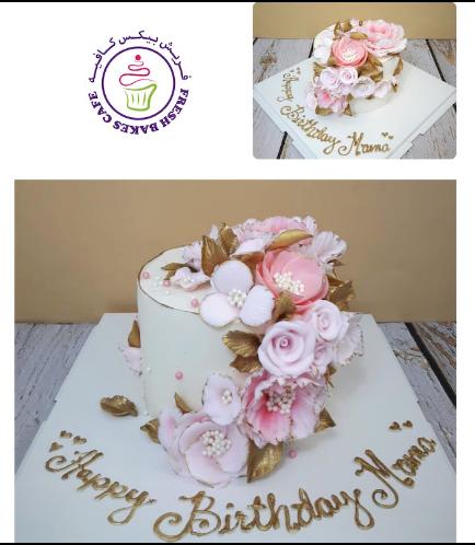 Cake - Flowers - 1 Tier 08