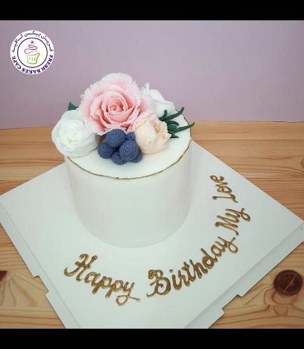 Cake - Flowers - 1 Tier 07