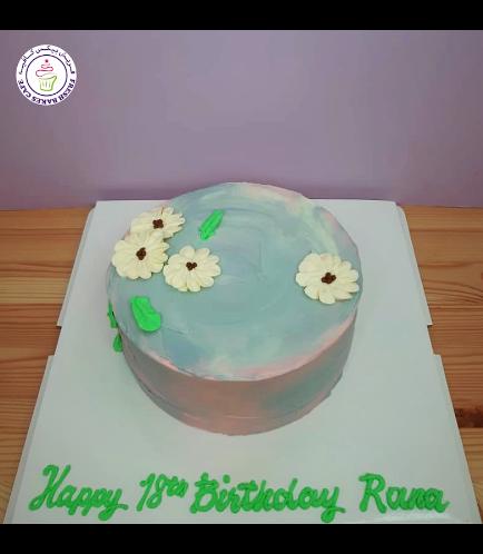 Cake - Flowers - Cream Piping 04