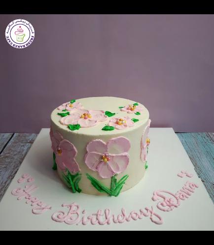 Cake - Flowers - Cream Piping 05
