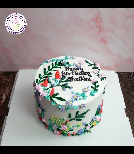 Cake - Flowers - Cream Piping 08