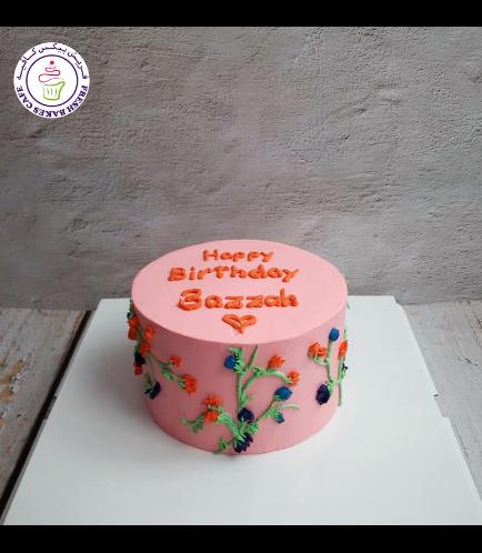 Cake - Flowers - Cream Piping 09
