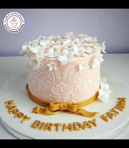 Cake - Flowers - Stencil - 1 Tier