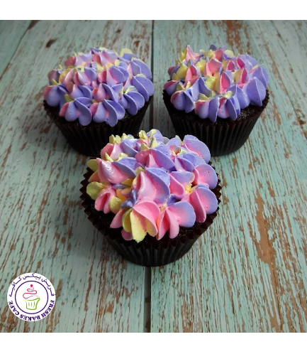 Cupcakes - Flowers - Cream Piping 02