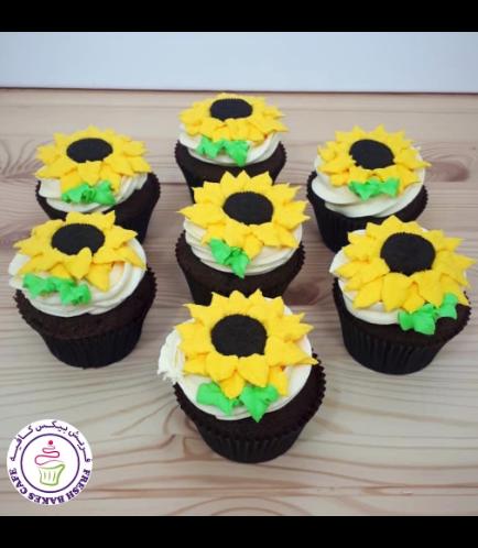 Cupcakes - Sunflowers