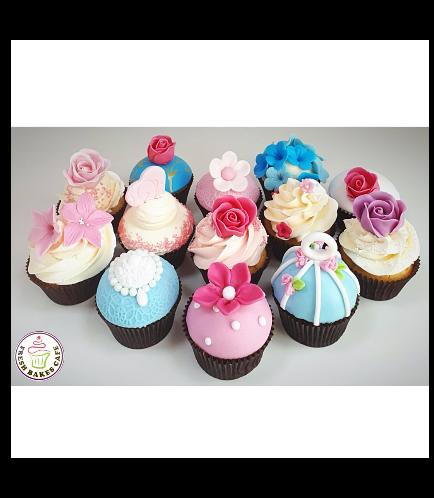 Cupcakes - Flowers 04b