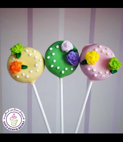 Flowers Themed Donut Pops