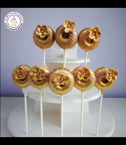 Flowers Themed Donut Pops 01