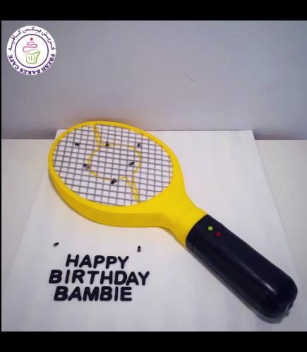 Fly Zapper Racket Themed Cake