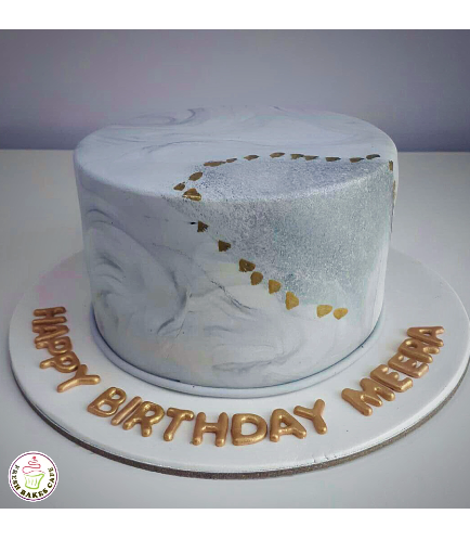Cake - Gold - 1 Tier 01