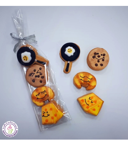 Emoji Themed Cookies - Food - Minis 01