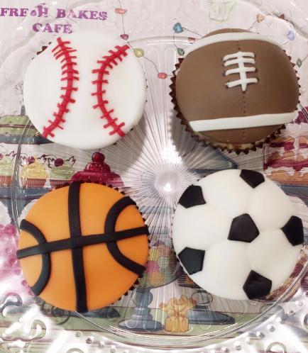 Sports Balls Themed Cupcakes 01