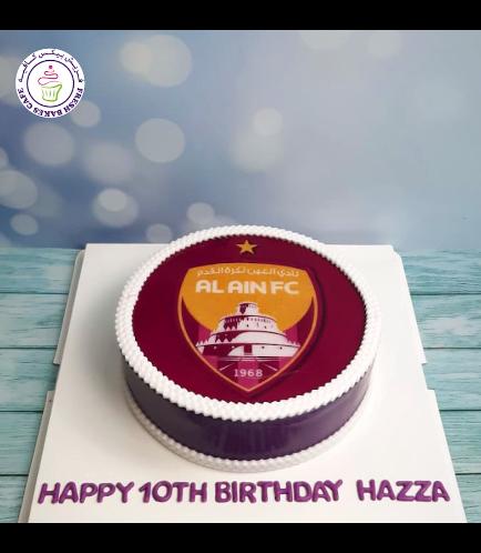 Football Themed Cake - Al Ain FC - Logo