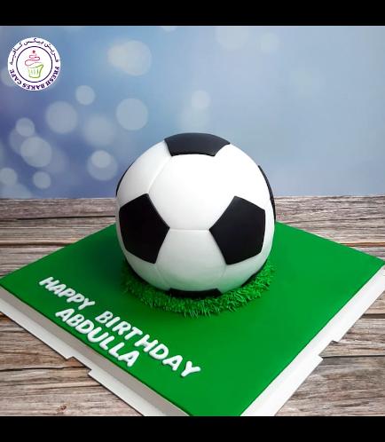 Football Themed Cake - Ball - 3D Cake