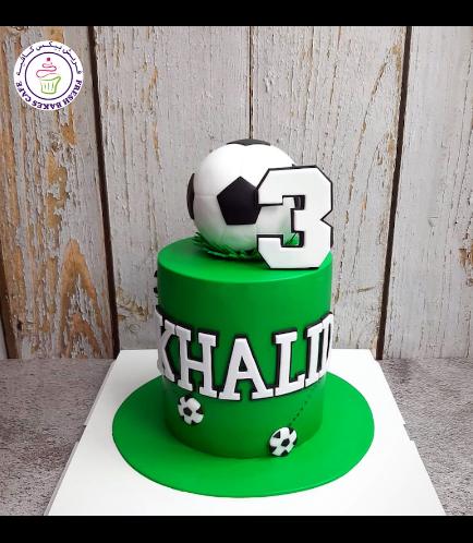 Football Themed Cake - Ball - 3D Cake Topper 03