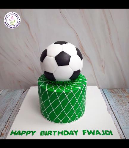 Football Themed Cake - Ball - 3D Cake Topper 04