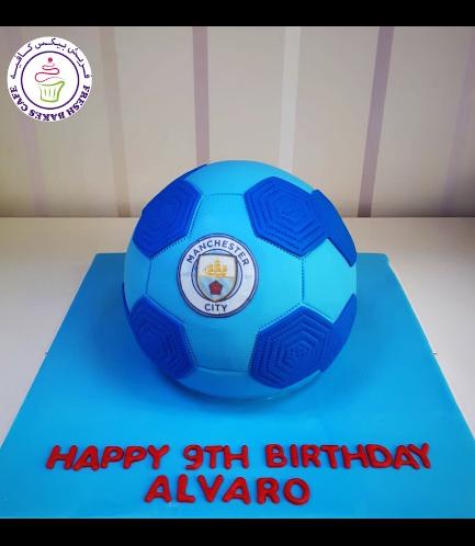 Football Themed Cake - Manchester City - Ball - 3D Cake