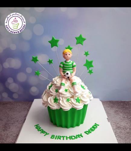 Football Themed Cake - Mega Cupcake - 3D Character
