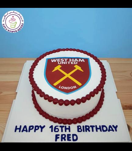 Football Themed Cake - West Ham United