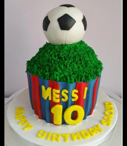 FC Barcelona Themed Mega Cupcake