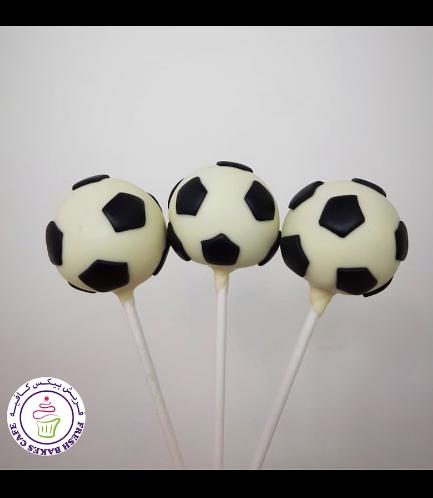 Football Themed Cake Pops