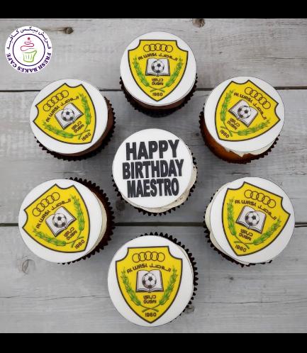 Football Themed Cupcakes - Al Wasl FC