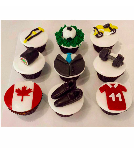 For Him Themed Cupcakes 01