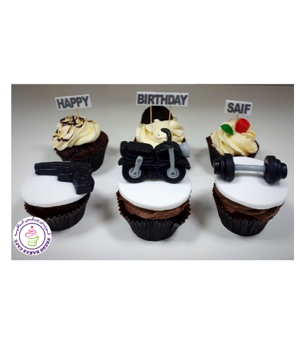 For Him Themed Cupcakes 03