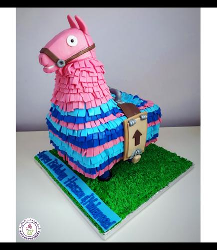 Fortenite Llama Themed Cake 01