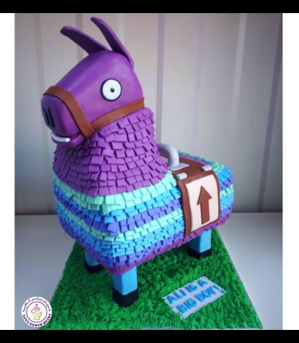 Fortenite Llama Themed Cake 02a