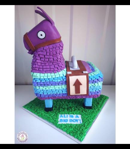 Fortnite Llama Themed Cake 02b