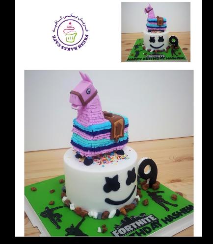 Cake - Llama - 3D Cake Topper & Marshmallo