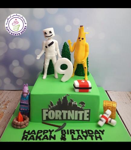 Cake - 3D Characters - Marshmallo & Peely